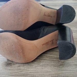 Sam Edelman Shoes - Sam Edelman Boots Black Zip Up Peep Toe Size 8.5